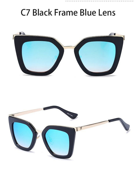 Leopard Cat Eye Sunglasses - Lolipop Shop