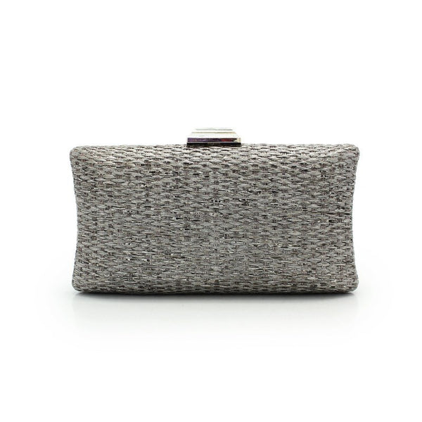 Grey Straw Clutch Bag - Lolipop Shop