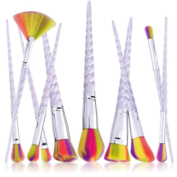 Colorful Spiral Shape Makeup Brush Set 10pcs - Lolipop Shop