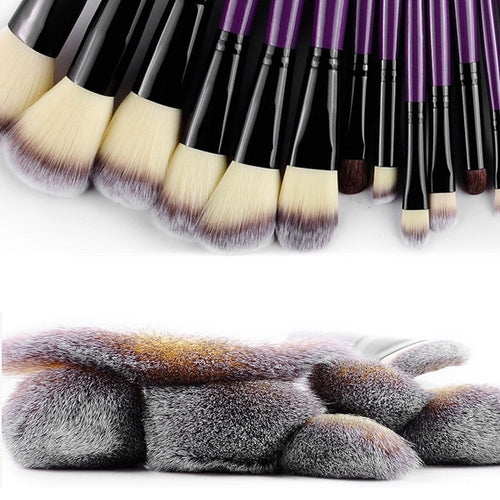 Professional 24pcs Makeup Brush Set With Leather Case - Lolipop Shop