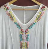 Plus Size Embroidered Cover Up