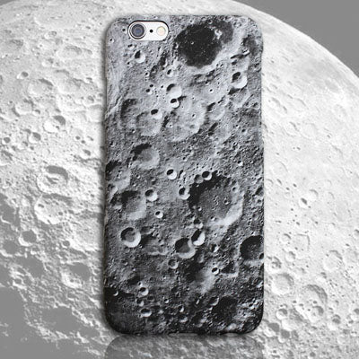 Cool Phone Cases - Moon Surface Marble Case