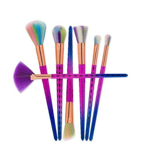 Lolipop Rainbow Makeup Brushes 7pcs