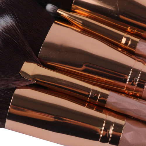 2017 Collection Soft Rose Makeup Brush Set 8pcs - Lolipop Shop