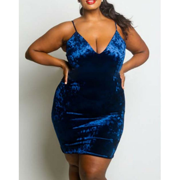 Royal Blue Plus Size Dress