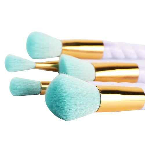 Turquoise Makeup Brush Set 5pcs