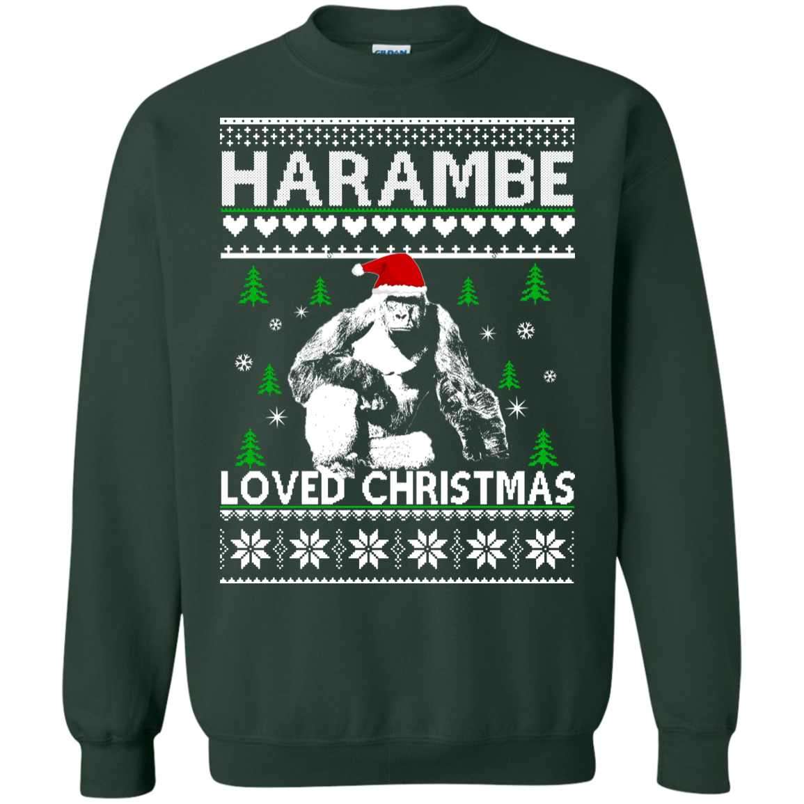 harambe loved christmas sweater t shirt hoodie