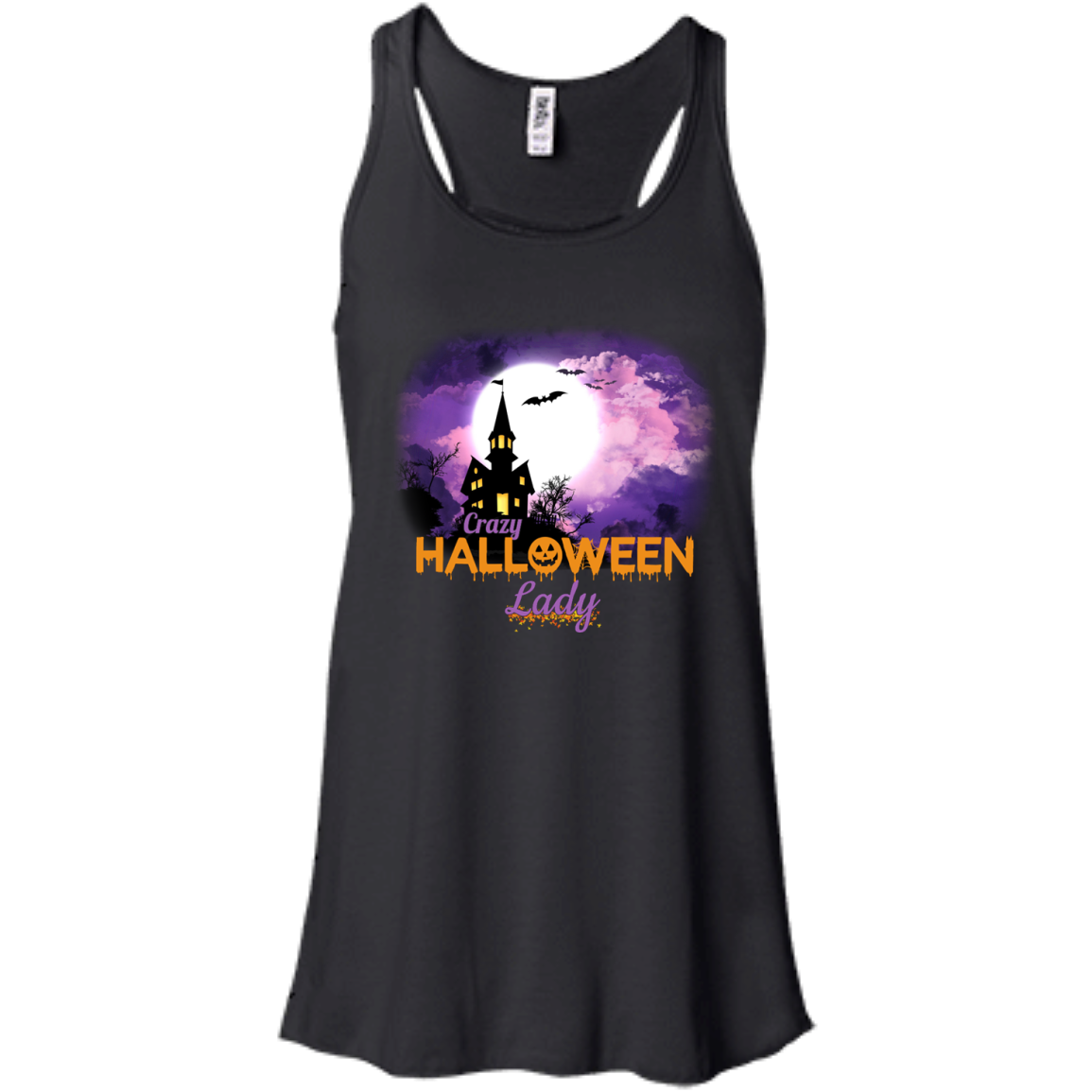 Crazy Halloween Decorations: Crazy Halloween Lady Shirt, Tank Top, Hoodie