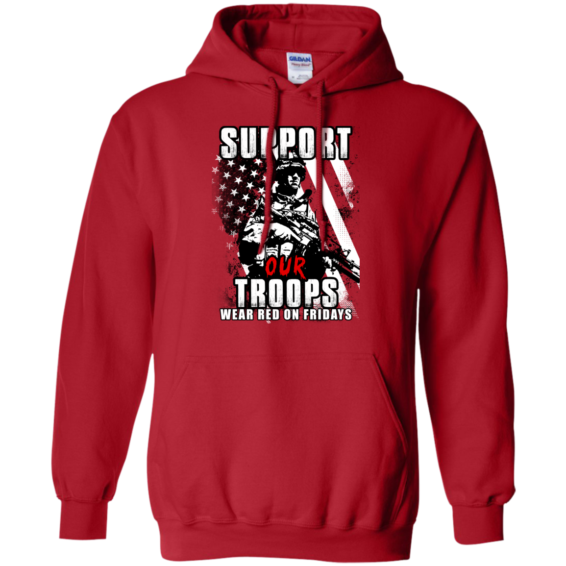 timeless design da77d 10850 Red shirt Friday: Support Our Troops Shirt, Hoodie, Tank