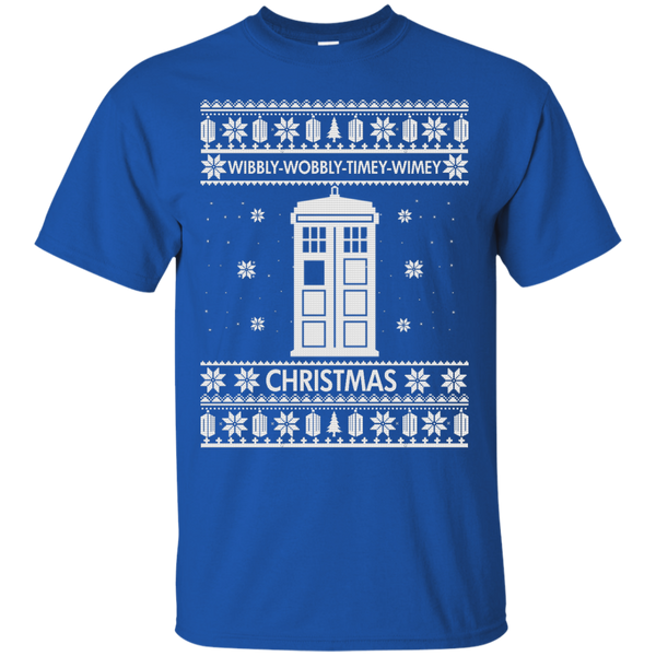 6734e5210 Doctor Who Christmas Sweater, Shirt - Wibbly Wobbly Timey Wimey - iFrogTees