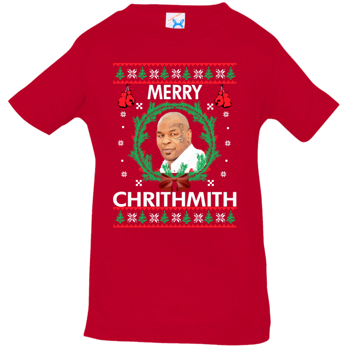 mike tyson merry chrithmith christmas toddler infant shirt
