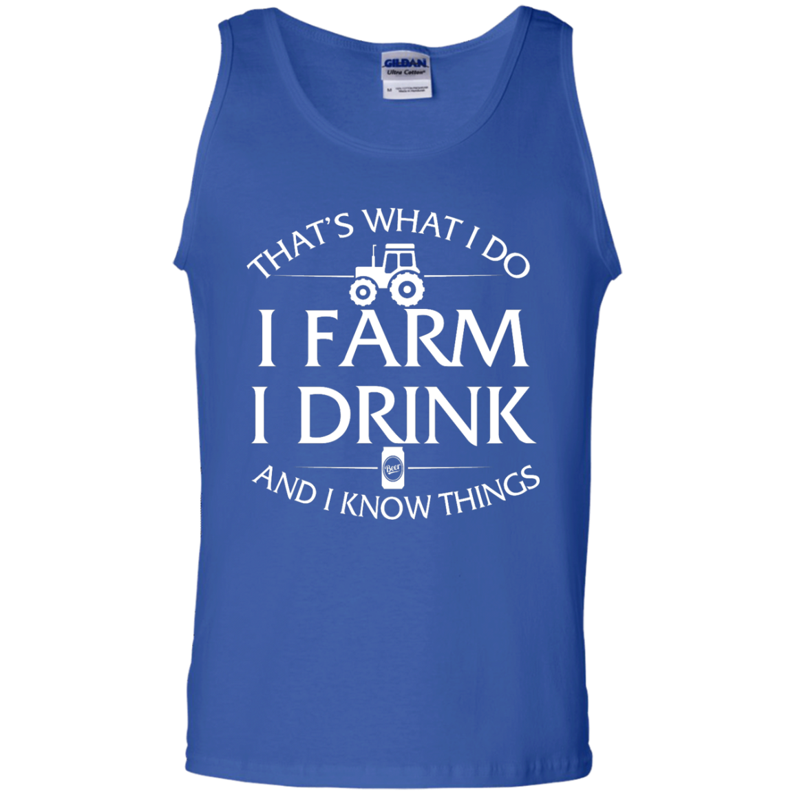Truck That/'s What I Do I Farm I Drink Beer And I Know Things Farmer Men T-Shirt