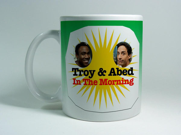 Troy and Abed In The Morning mug - iFrogTees
