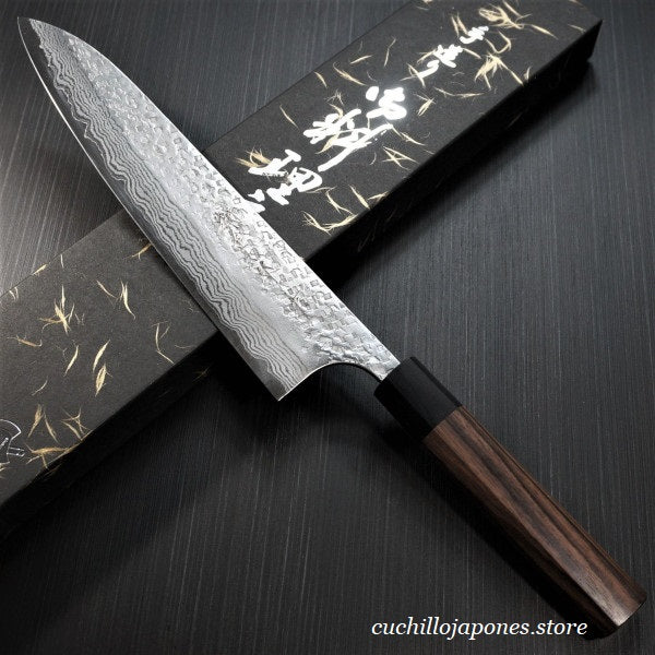 KATO Martillado VG10 Damasco Cuchillo del Cocinero / Gyuto, Chef's Knife 210mm KA401