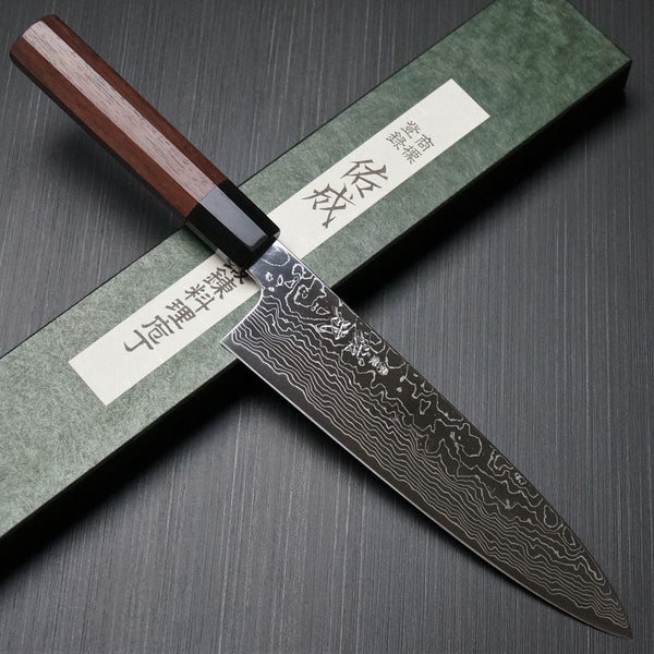 SUKENARI damasco super oro2 de Cuchillo del Cocinero / Wa-Gyuto, Chef 210mm
