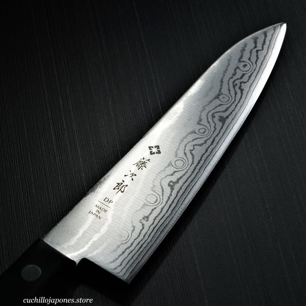 "TOJIRO 37-Capas DP Damasco VG10 Cuchillo del Cocinero / Gyuto, Chef 180 mm 7.1"" F-332"