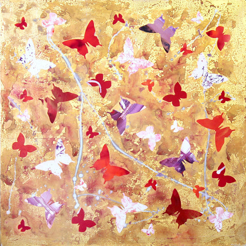 butterfly abstract paintings