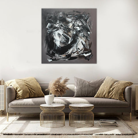 taupe abstract art