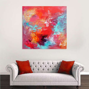 multi colour abstract art