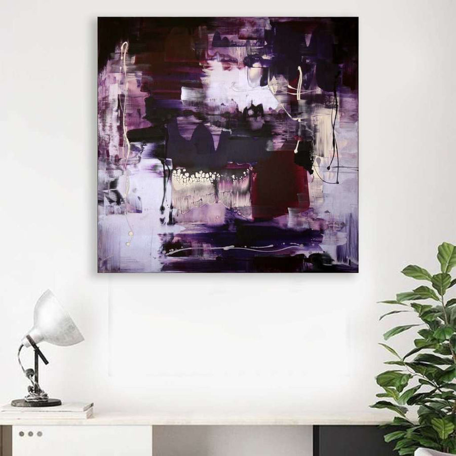 purple modern art for sale