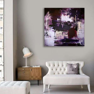 purple abstract art for sale