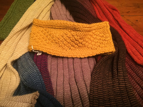 Handknit Woolen Headbands from Bere Island, Co. Cork