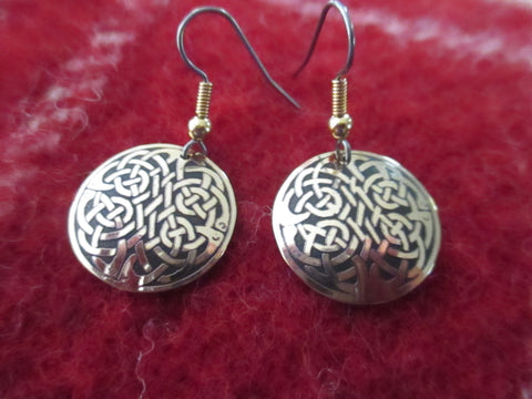 Celtic Round Earrings-Small