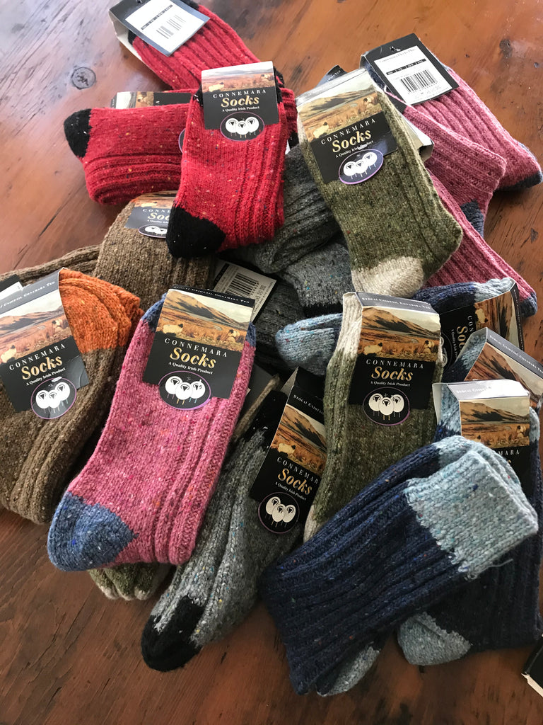 **They're back !! Contrasting Heal & Toe Connemara Socks