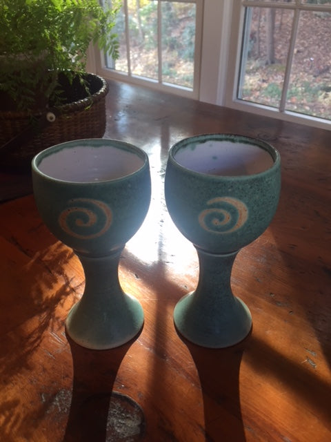 Goblets by Ballymorris Pottery, Co Clare