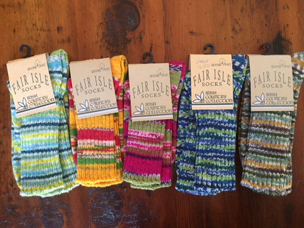 *Fair Isle Socks- Irish Country Collection