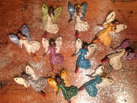 Pottery Fairy Ornaments