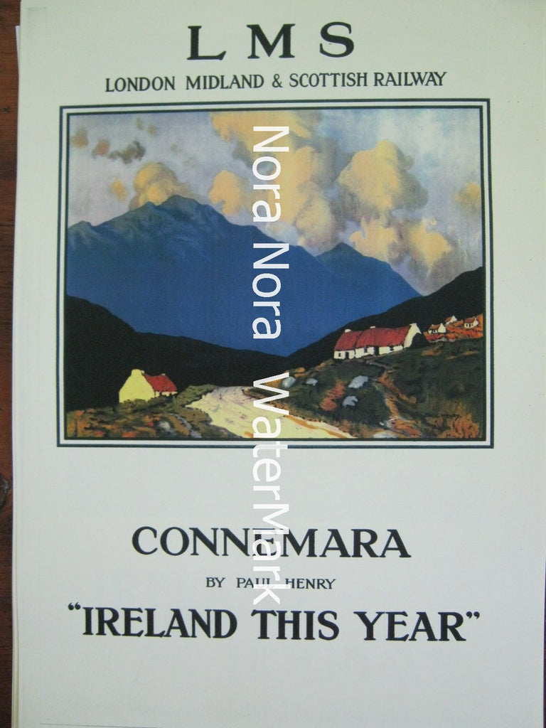Connemara Travel Poster