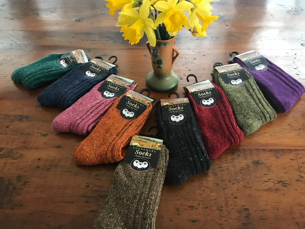 ***Connemara Socks- New Colors Just In