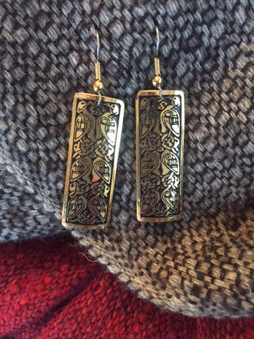 *Dove Etched Earrings