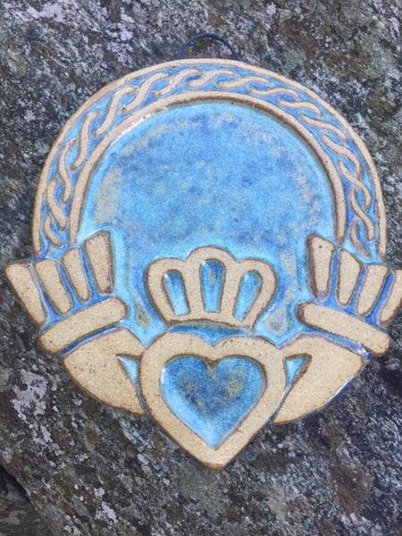 Claddagh Wall Plaque by Ballymorris Pottery
