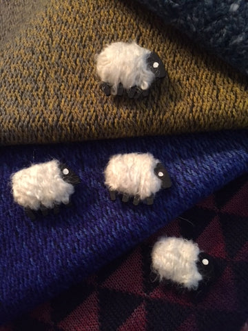 *New Sheep Pins by Liz Christy of Co Monaghan