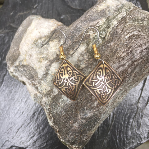 Diamond Celtic Earrings