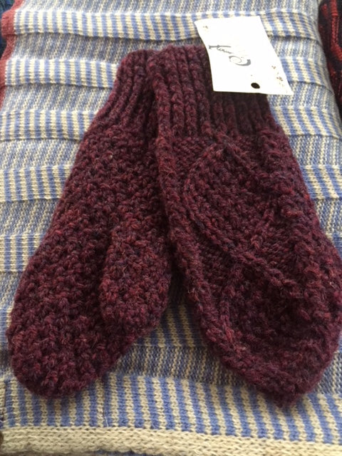 Handknit Woolen Mittens from Donegal
