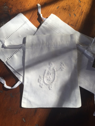 Irish Linen Bags with Lavender