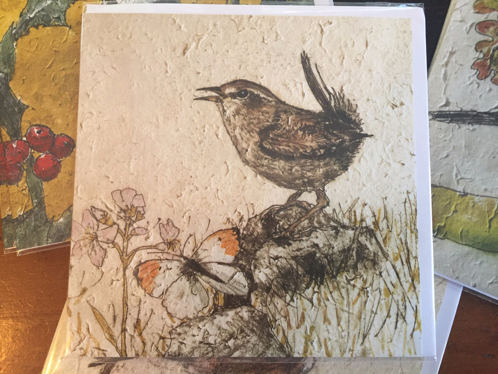 Wren Blank Card by Annabel Langrish