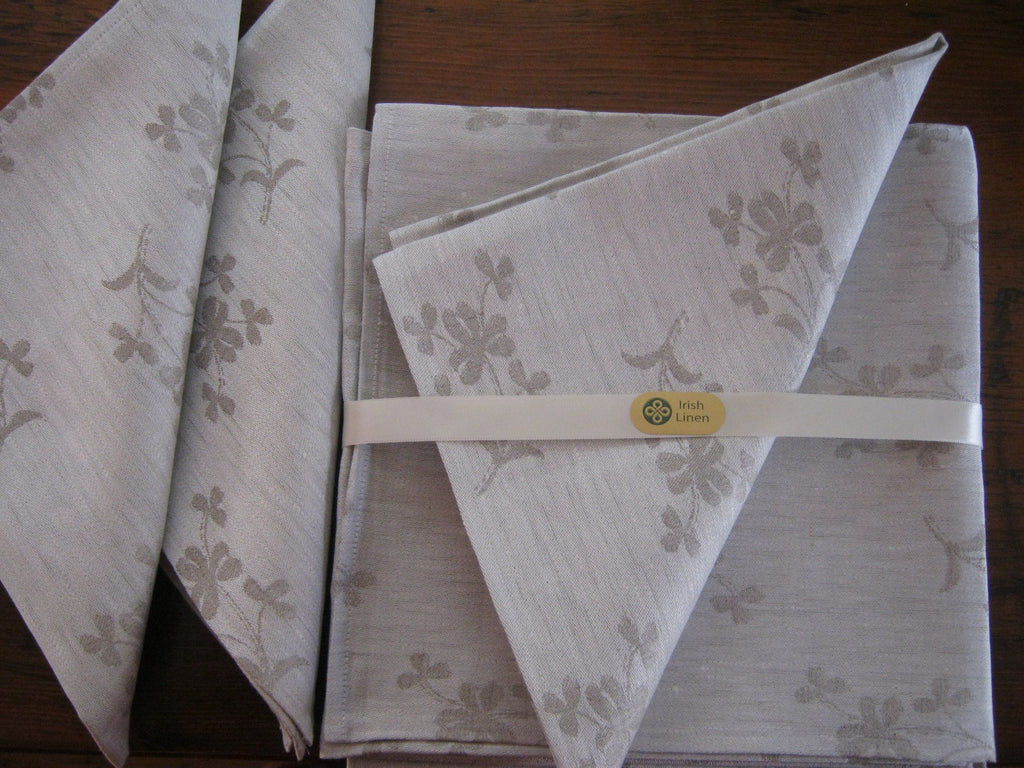 Irish Linen Damask Napkins
