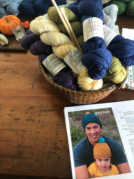 * New Hand Dyed Irish Yarns Knitting Kit-  Hat/ Cowl