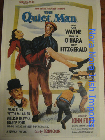 The Quiet Man Vintage Poster