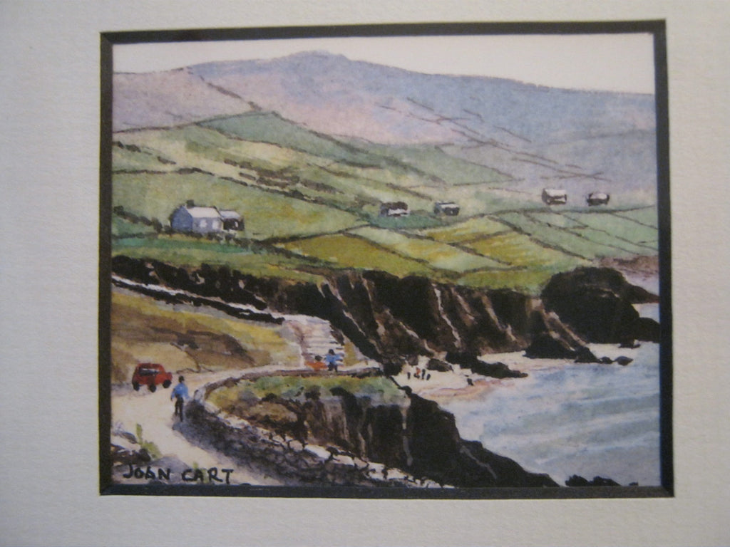 Road to Coumeenole Beach Watercolor Print