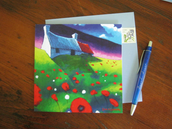 Greeting Cards by Eoin O'Connor - Poppy Cottage