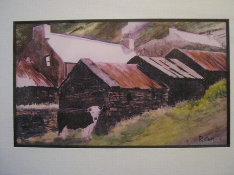 Stone cottages of Ballyferriter Ireland by Rod Cart