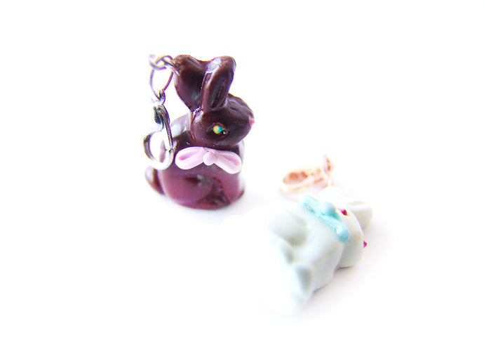 3D Chocolate Bunny Charm - Sucre Sucre Miniatures