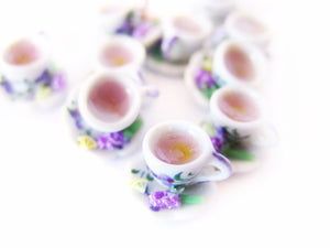 May Flowers Lavender Hot Tea Charm *Limited Release* - Sucre Sucre Miniatures
