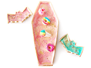 Creepy Cute Coffin Findings + Trinket Dish, Rose