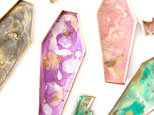 Load image into Gallery viewer, Creepy Cute Coffin Findings + Trinket Dish, Amethyst - Sucre Sucre Miniatures